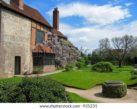 Home of William Shakespeare at Stratford-upon-Avon, England - stock photo