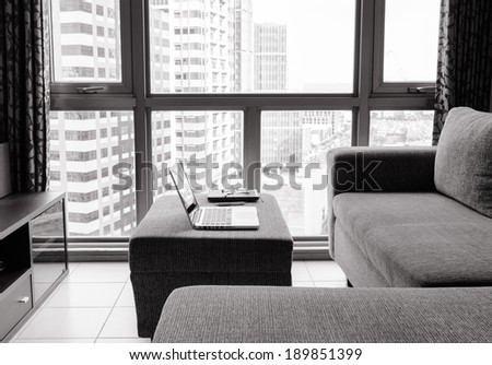 Home office. - stock photo
