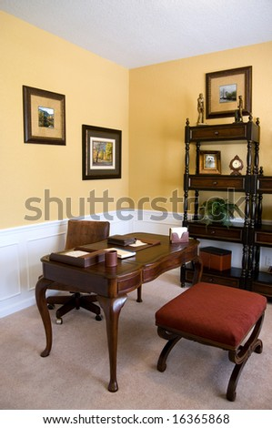 home office in an upscale home - stock photo