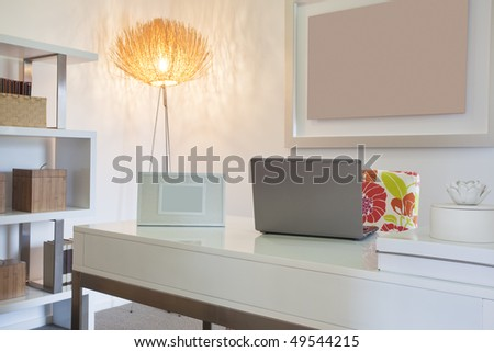 Home Office in modern townhouse - stock photo