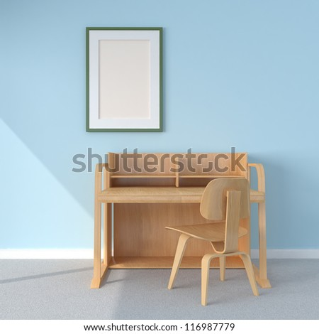 Home office interior - stock photo