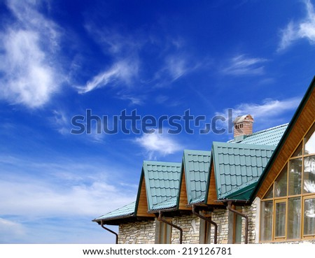 home on sky - stock photo
