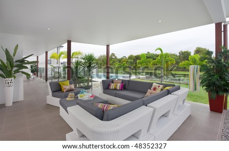 home outside entertainment area, Australia - stock photo