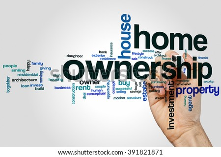 Home ownership word cloud concept - stock photo
