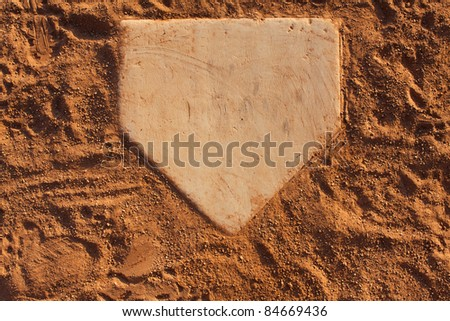 Home Plate Of A Baseball Field With Room For Copy