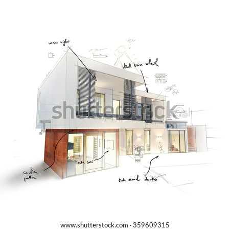 Home project - stock photo