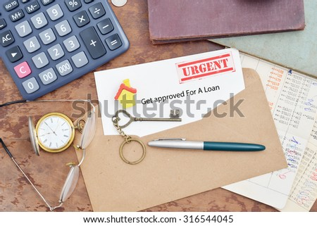 Home purchase loan approval letter - stock photo