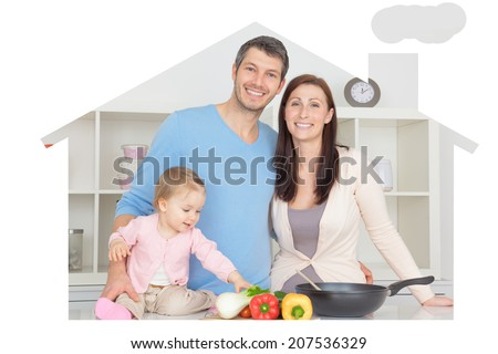 home related pictures as symbol and concept - stock photo