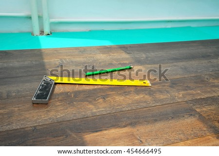 Home renovation concept, closeup image of flooring