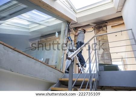 Home repair, renewing, Freiburg, Germany - stock photo