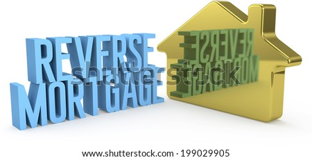 Home Reverse Mortgage money concept as gold house symbol  - stock photo