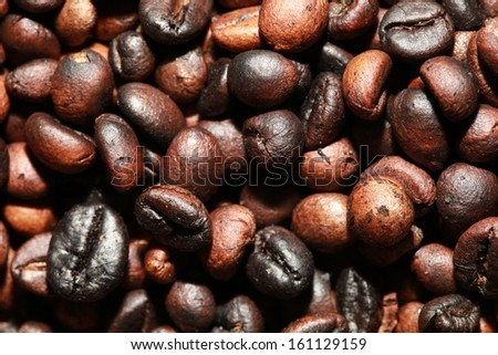 Home roasted coffee beans.