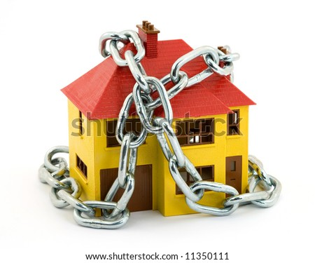 home security concept studio isolated - stock photo