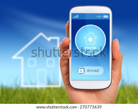 Home security. Wireless security system of your home.