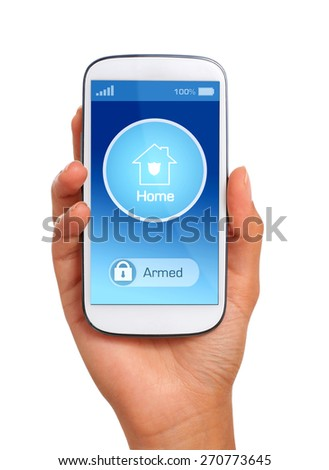 Home security. Wireless security system of your home. - stock photo