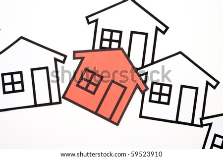 home sign for background use, Real Estate Concept - stock photo