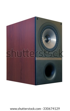 Home speaker isolated on white background