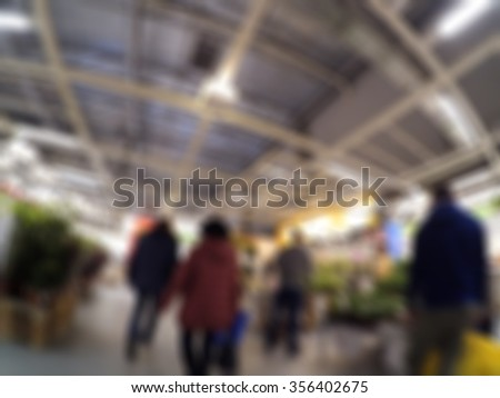 Home-store shopping mall theme creative abstract blur background with bokeh effect