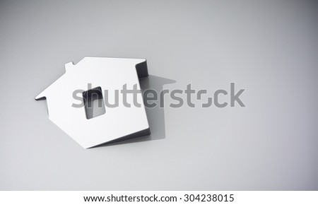 Home symbol on grey background 3d model - stock photo
