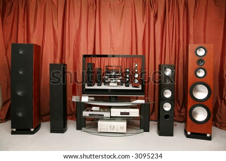 home theater 6 - stock photo