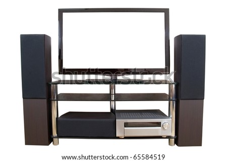 Home theater isolated on the white background - stock photo