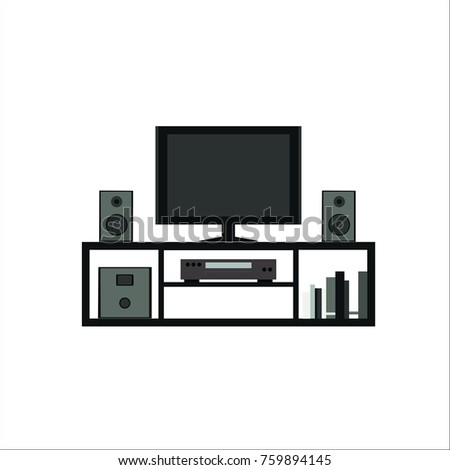 Home theater system icon.  illustration