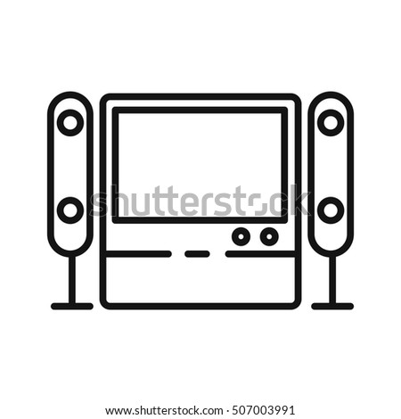 home theater system illustration design