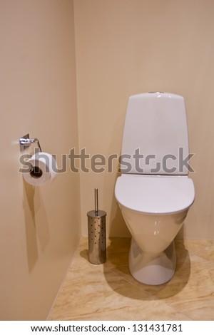 Home toilet - stock photo