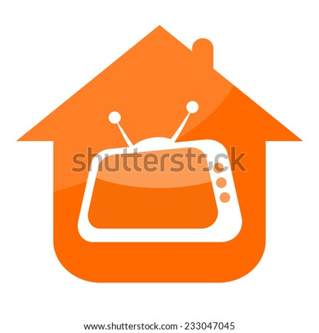 Home TV - stock photo