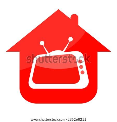 Home TV - stock photo