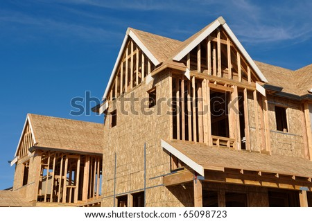 Home Under Construction - stock photo