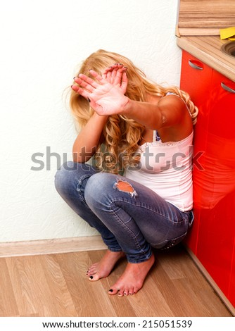 Home violence - stock photo