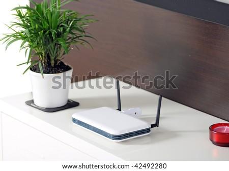 Home WIFI - stock photo
