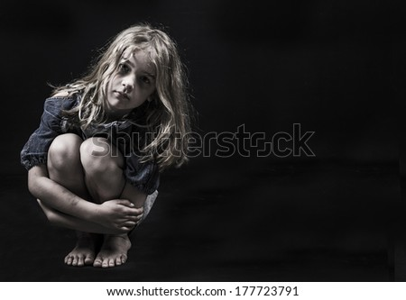 Homeless child - stock photo
