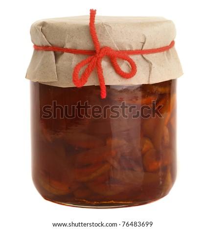 Homemade apple jam - stock photo