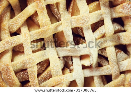 Homemade apple pie, close-up