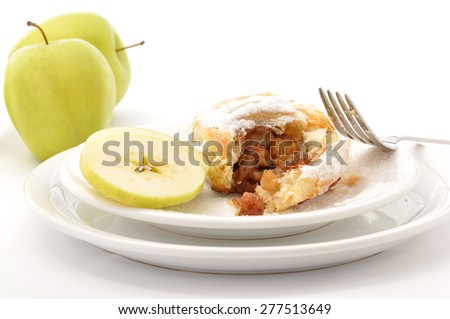 Homemade apple pie isolate on white background  - stock photo