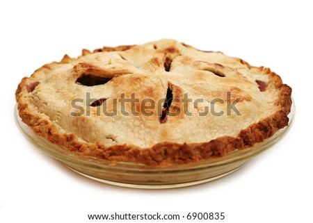 Homemade apple pie - made with my own hands and it was delicious! - stock photo
