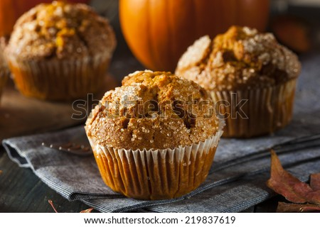 Homemade Autumn Pumpkin Muffin Ready to Eat - stock photo
