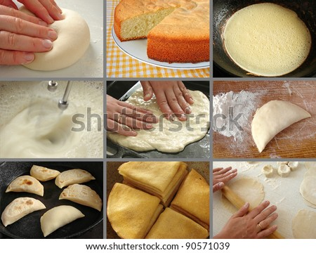 homemade baking collection - stock photo