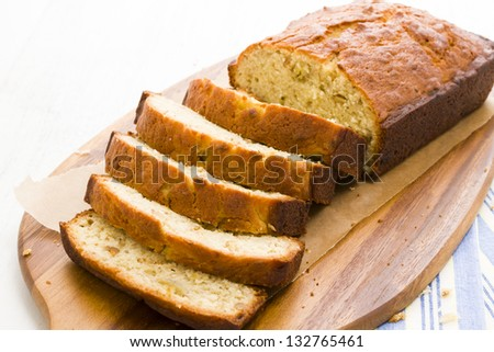 Homemade banana bread from classic recipe. - stock photo