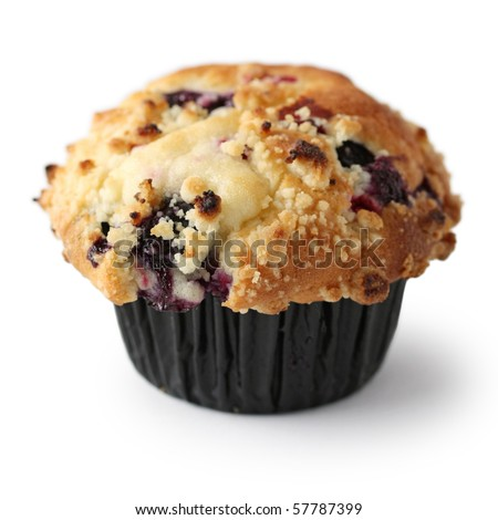 Homemade Blueberry Muffin - stock photo