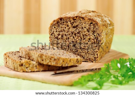 Homemade bread. - stock photo