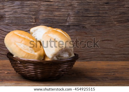 Homemade Bread made with love/ Bread/ Homemade french hot bread - stock photo