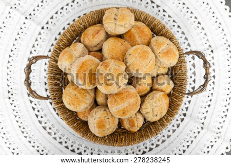 Homemade bread snacks - stock photo