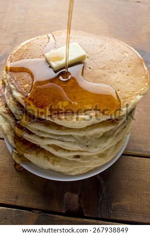 Homemade Buttermilk Pancakes - stock photo