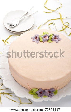 Homemade cake - stock photo