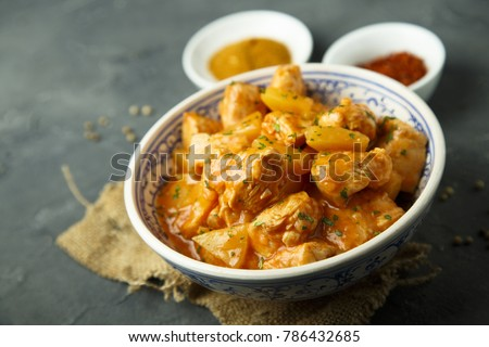 Homemade chicken curry
