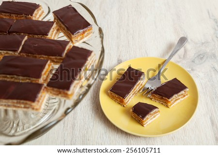 Homemade chocolate cake - stock photo