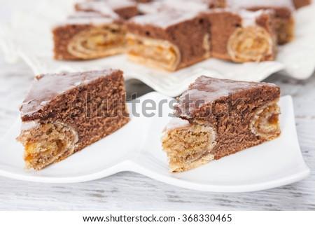 Homemade Chocolate Rolls Dessert - stock photo